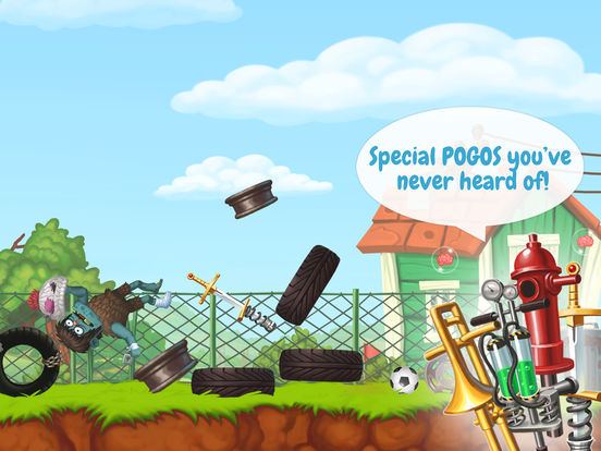 Screenshots of Zombie's Got a Pogo for iPad