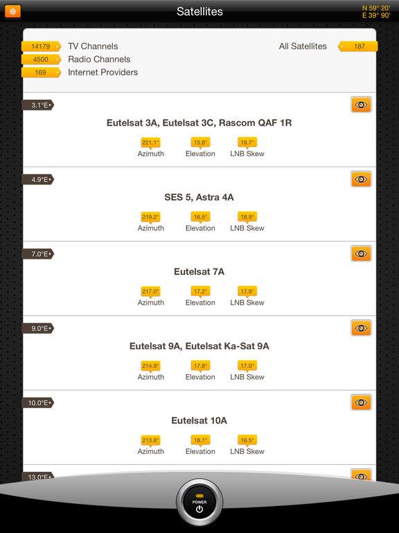 SatFinder Pro HD Screenshots