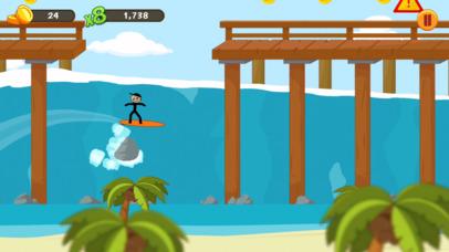 Stickman Surfer screenshot 1