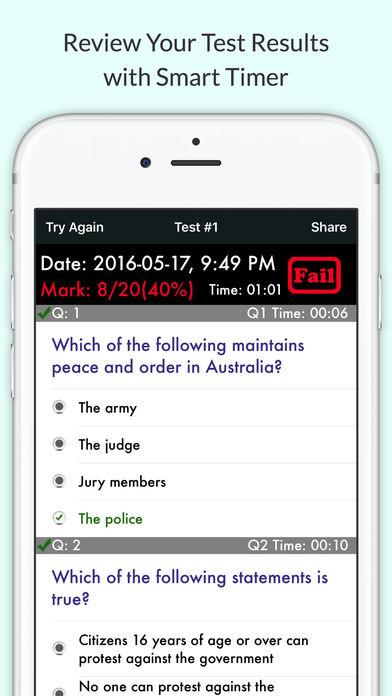 Australian Citizenship Test 2017 Practice Question on the App Store