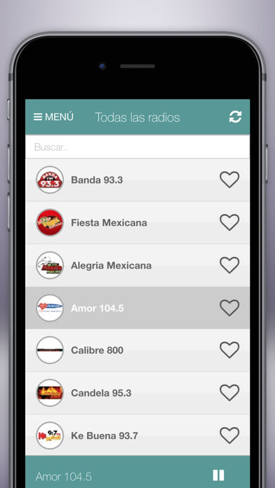 Radio Mexico FM Gratis - La mejor radio mexicana iPhone Screenshot 1