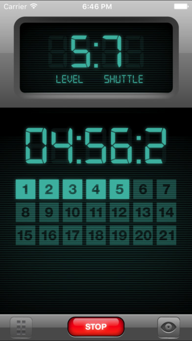 Beep Test iPhone Screenshot 1