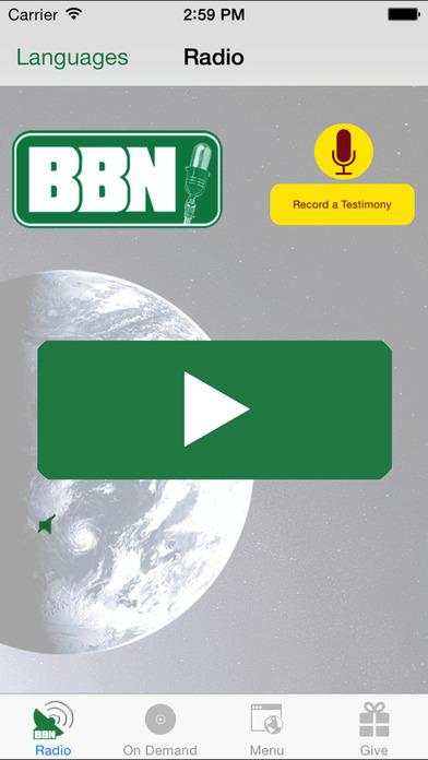 BBN - Christian Radio iPhone Screenshot 1