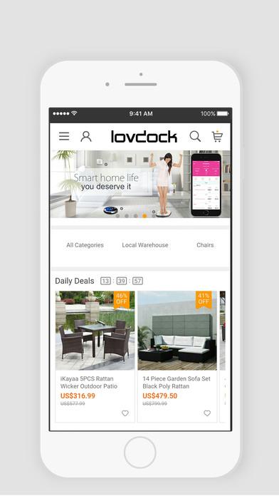 App shopper lovdock furniture store shopping Furniture apps for iphone
