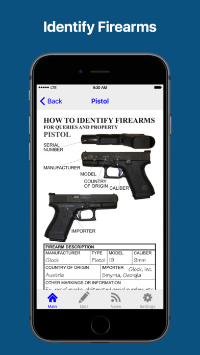 Officer's Guide to Recovered Firearms iPhone Screenshot 2