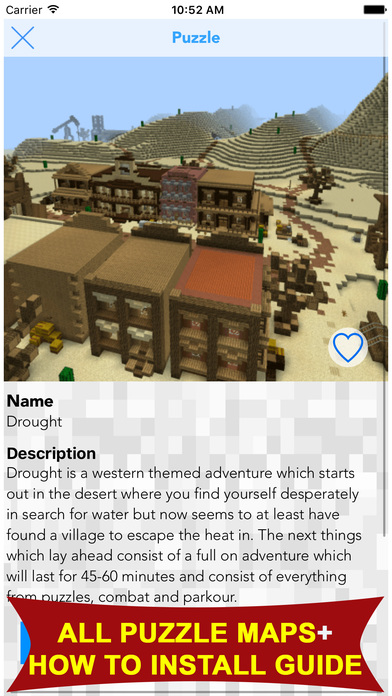 Puzzle Maps For Minecraft PE (MCPE) Apps free for iPhone/iPad screenshot