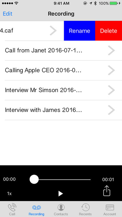 Automatic Call Recorder and International Calls Screenshot 3