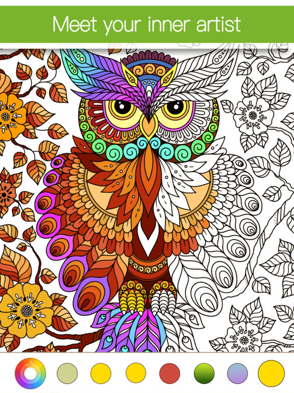 Colorfly : Coloring Book for Adults - Free Gamesscreeshot 2