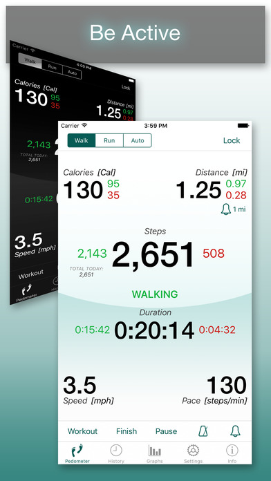 Footsteps - Pedometer Free iPhone Screenshot 1