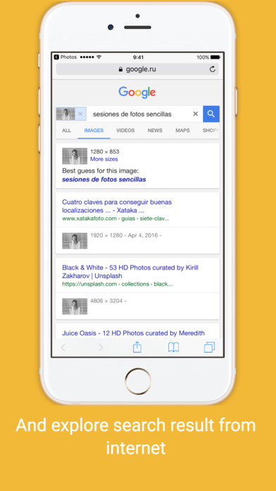 Search By Image Extension Apps for iPhone/iPad screenshot
