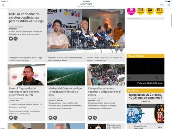 PERIÓDICOS DIARIOS DE VENEZUELA iPad Screenshot 1