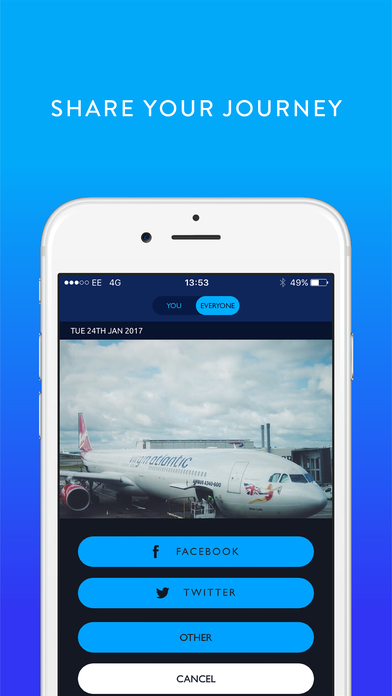 Fllike - Score & Share your flight experience Screenshot