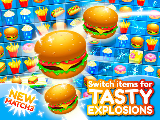 Match 3 Burgers: Delicious Food Mania