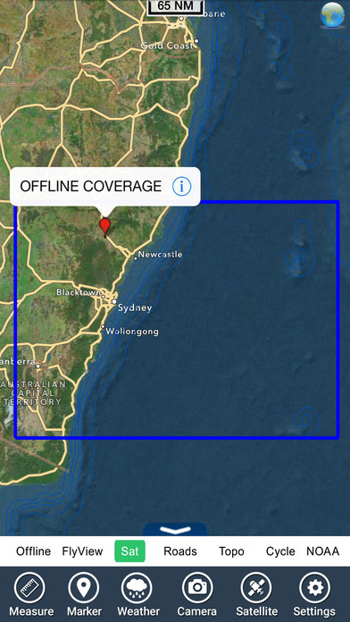 Marine: Sydney - GPS Map Navigator iPhone Screenshot 5