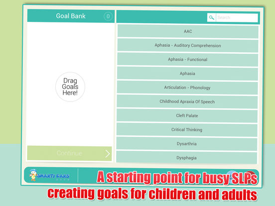 SLP Goal Bank iPad Screenshot 1