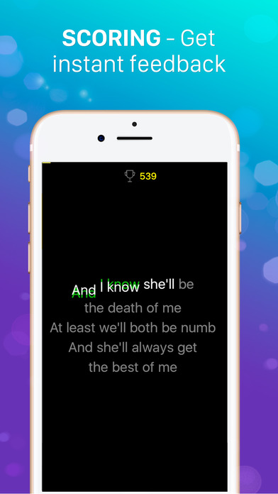 Karaoke Game - Sing and Record Songs Apps free for iPhone/iPad screenshot