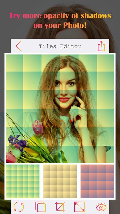 Tiles Insta Selfie Editor - Shader Image Editor screenshot 3