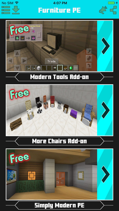 App shopper furniture addons for minecraft pe utilities Furniture apps for iphone