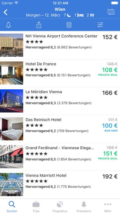 Flugsuche - für Urlaub und Geschäftsreisen iPhone Screenshot 2