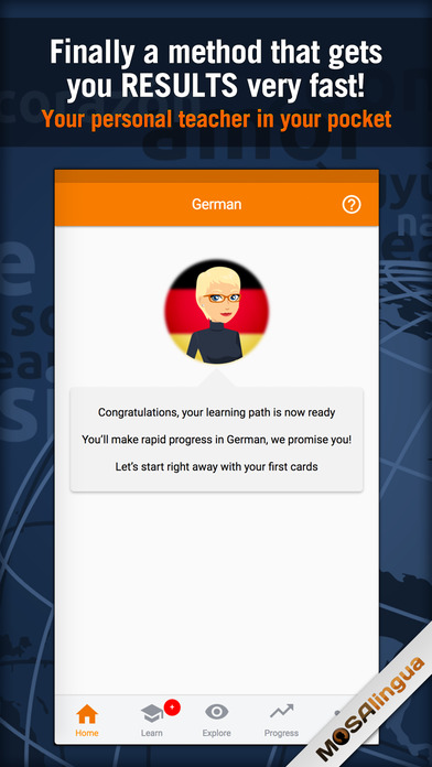 Learn and Speak German Quickly With MosaLingua Screenshots