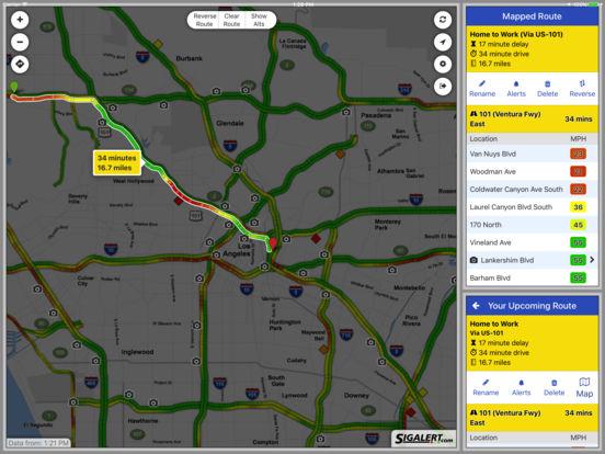 Sigalert.com - Live traffic reports iPad Screenshot 4
