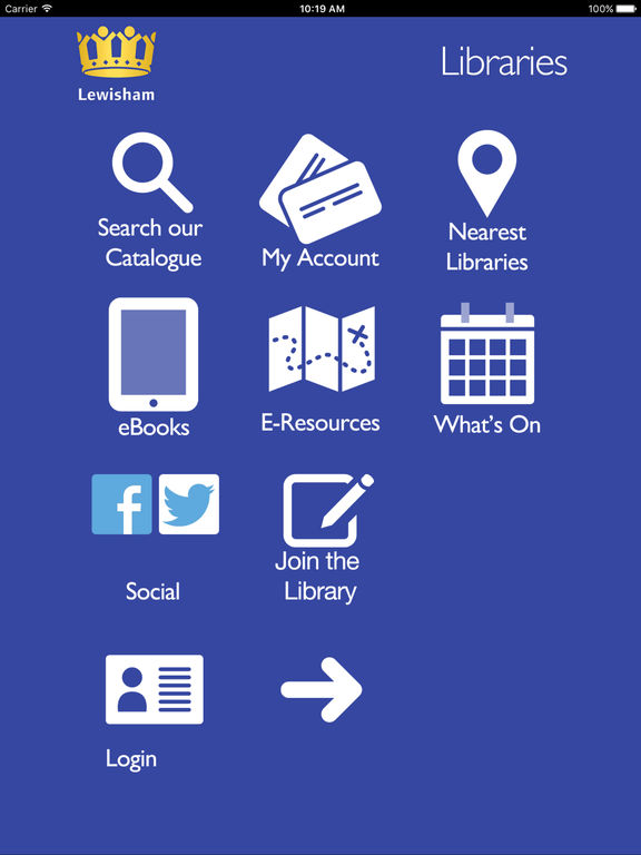 Screenshot #1 for Lewisham Libraries