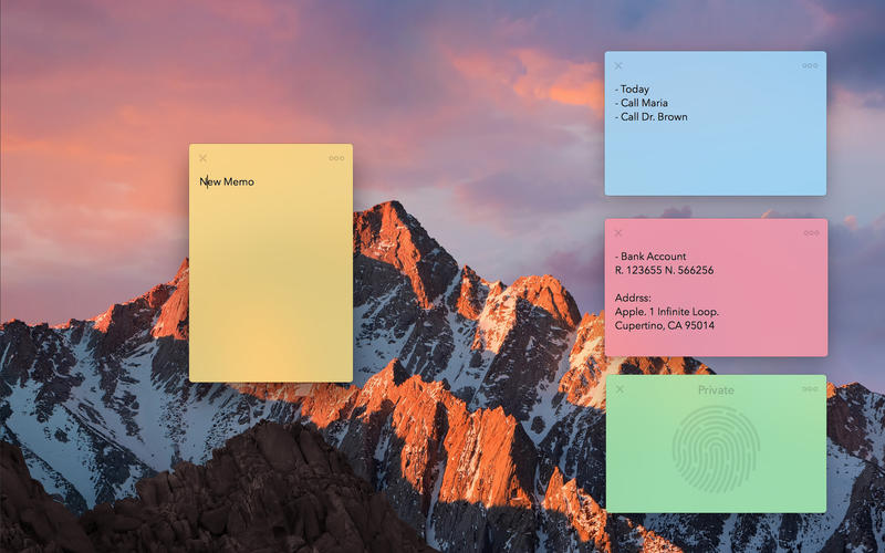 Memo - Sticky Notes for Mac