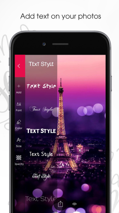 Fonto - Write on Photos, Add Artwork & Insert Text Apps free for iPhone/iPad screenshot
