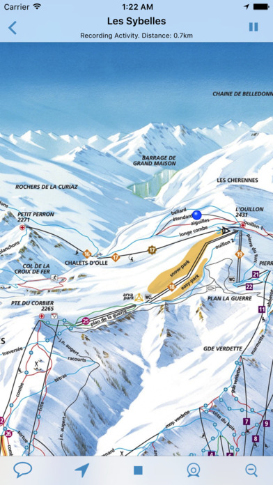 SkiMaps - Download trail maps and view webcams of your favourite ski areas. Now with GPS track recording! iPhone Screenshot 2
