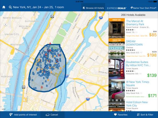 priceline Hotel & Car Negotiator iPad Screenshot 2