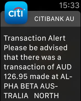 Citibank AU iPhone Screenshot 8