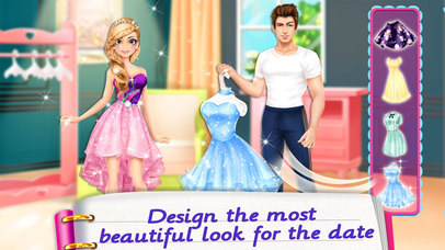 Screenshots of Secret Diary Makeover! Love Story Games for Girls for iPhone