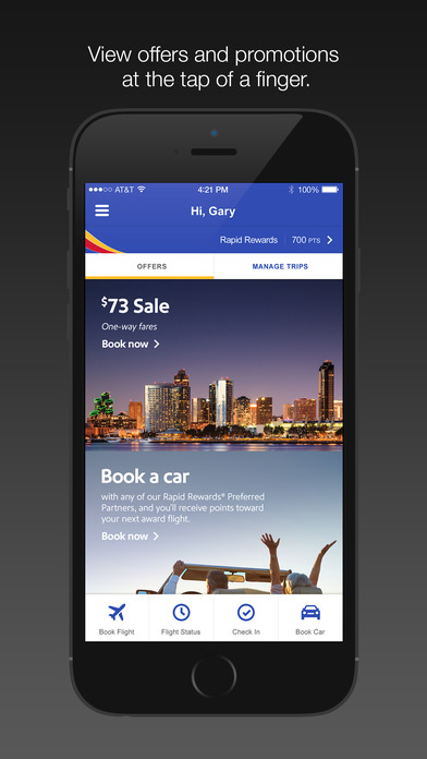 Southwest Airlines iPhone Screenshot 5