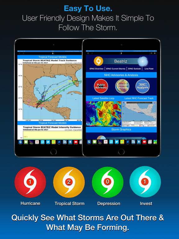 Screenshot #3 for Hurricane Tracker For iPad