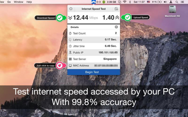 InternetSpeedTest Screenshot - 1