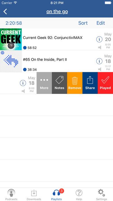 iCatcher! Podcast Player Screenshots