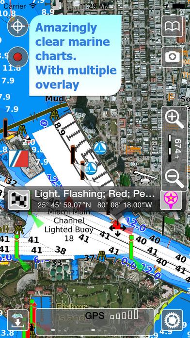 Aqua map florida gps offline nautical charts by giorgio for Fishing gps apps