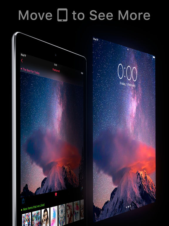 Screenshots of Featured of Wallpapers Cool Backgrounds and Themes for iPad