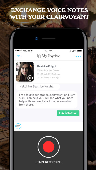 My Psychic: Text Clairvoyant and Tarot Readers screenshot