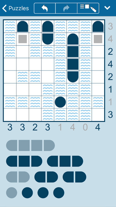 Battleships for iPhone and iPad: Discover the Ships - Solve the Puzzle Image