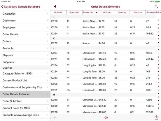 SQL Server Mobile Database Client Screenshots