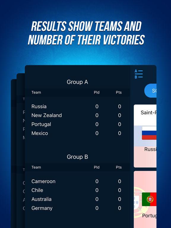Confederation Tournament 2017 - Events Calender Screenshots