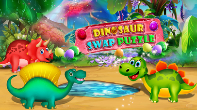 Dinosaur swap puzzle screenshot 1