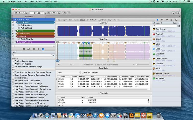 Triumph — Audio Editing and Mastering Screenshots