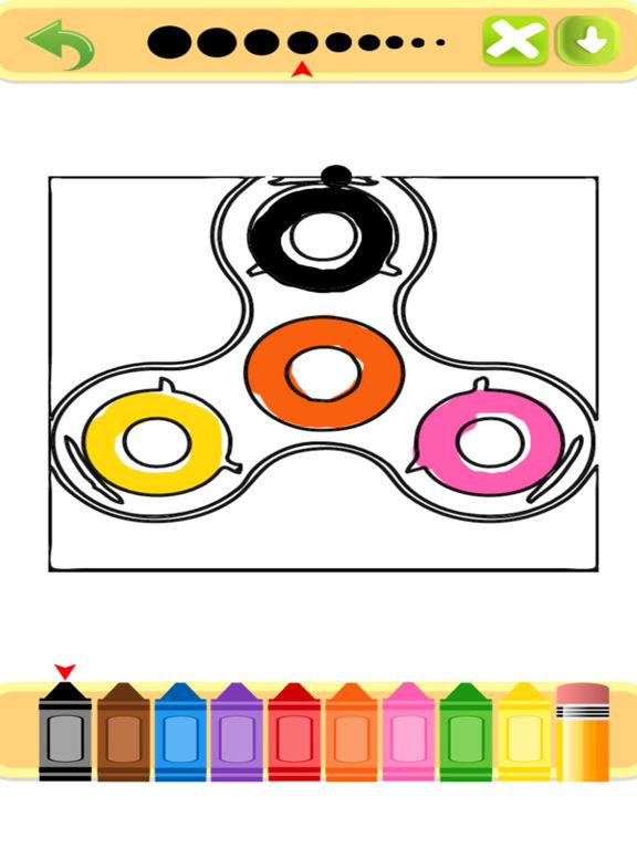 Игра Fidget Spinner Coloring Book