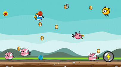 Flying Pinky Mountain Pass Adventure screenshot 2