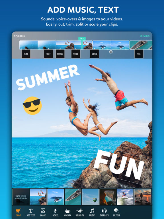 Screenshots of Video Editor Videorama - FX and Music Movie Maker for iPad