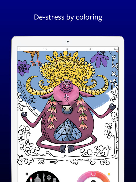 Lake: De-Stress Therapy with Art Coloring Pages iPad