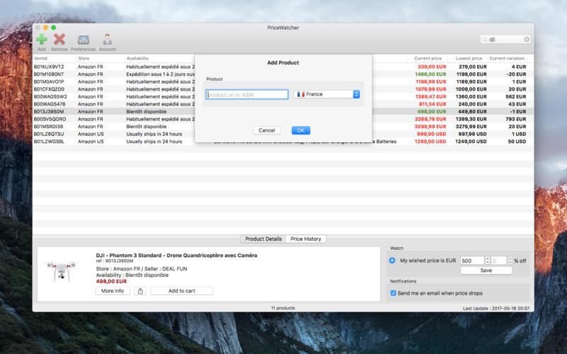 PriceWatcher for Mac 1.2.15 激活版 – 价格变动监控软件-麦氪派