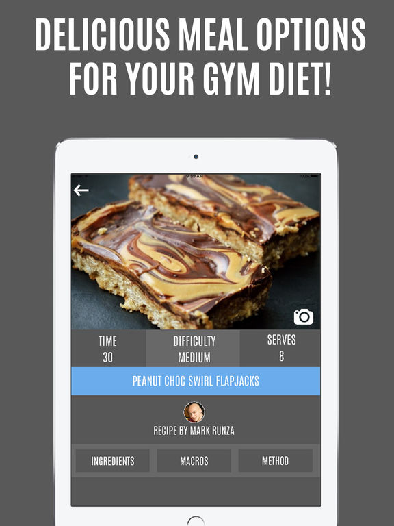 Gymster Pro -  Gym Workouts & IIFYM Diet Recipes Screenshots